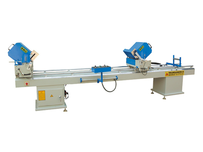Linear double-head cutting saw